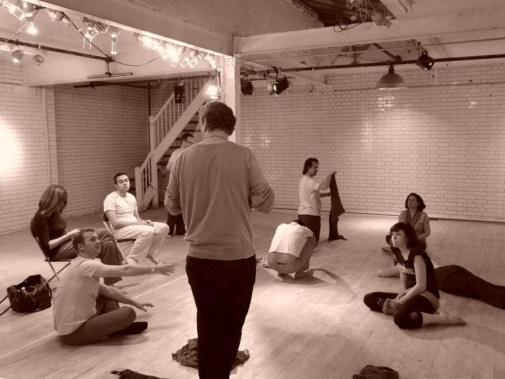 A Dream Play rehearsal