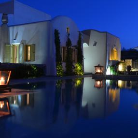 Superior Villa Alcyone | Pool Area by night