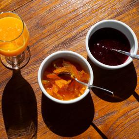 Breakfast | Fresh squeezed juice | Ηomemade marmalade