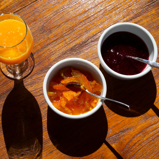 Breakfast | Fresh Squeezed Juice | Homemade Marmalade