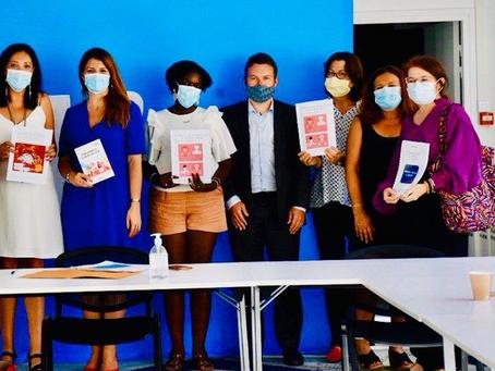 """Remise de l'étude """"Femmes+45ans et Emploi"""" à Marlène Schiappa le 29 juillet 2020"""