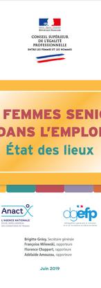 """Rapport 2019 Conseil Supérieur à l'Egalité Professionnelle """"Les Femmes Seniors dans l'emploi"""""""