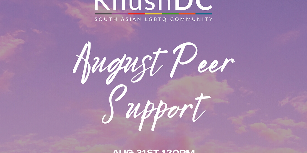 August Peer Support