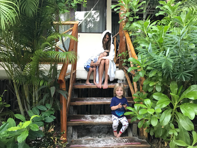 FAMILY OF FIVE TAKES TO THE TROPICS