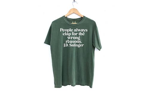 J.D. Salinger Quote Tee