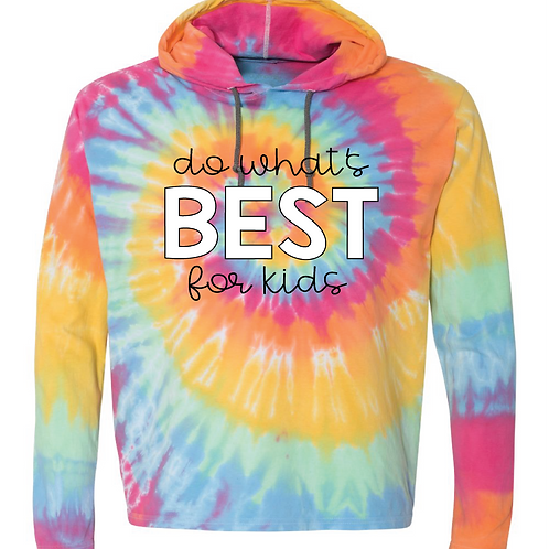 Tie Dye Hooded Pullover Shirt