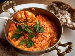 Menemen - egg dish with tomato sauce