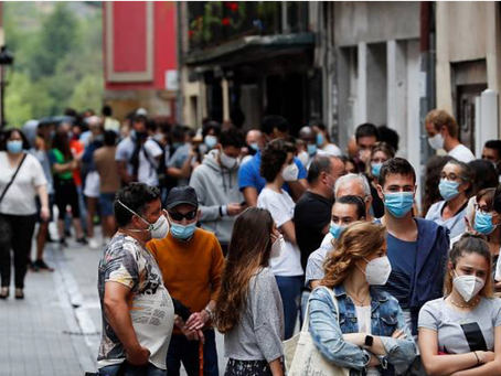 Alerta por contaminación de las mascarillas desechables