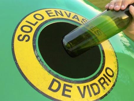 Separar para reciclar vidrio