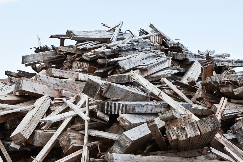 contenedores de escombros
