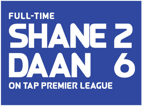 Mighty Shane 2-6 Daan: First half collapse stuns Shane