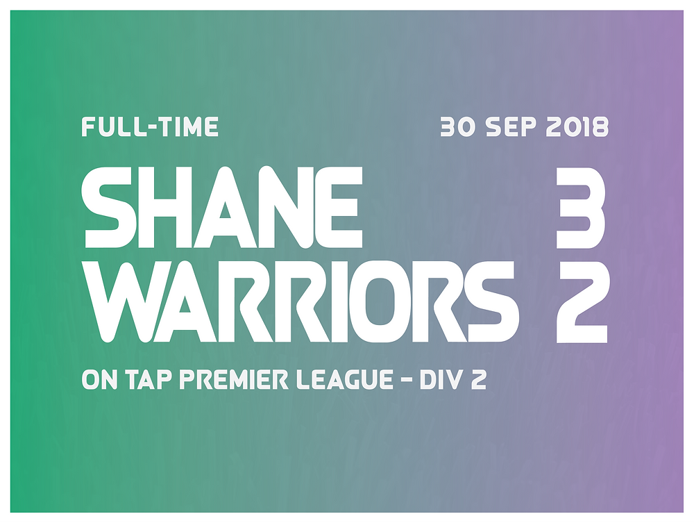 Shane 3-2 Warriors