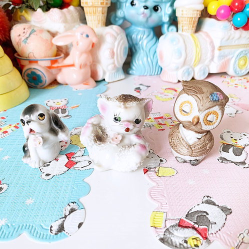 Kitschy Cute Ceramic Ornament Collection