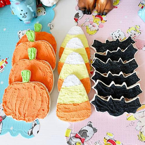 Faux Halloween Iced Cookies