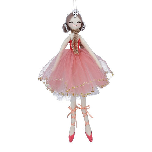Beautiful Fabric Ballerina Hanging Christmas Decoration