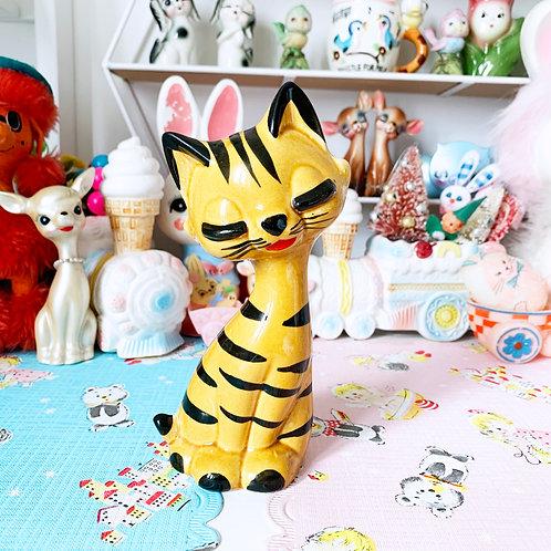 Vintage Kitsch Tiger Eyelash Kitty