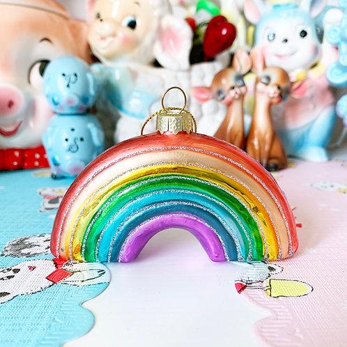 Glass Rainbow Hanging Christmas Ornament