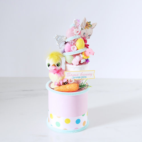 Stunning Easter Chick Egg Cup Tree Vintage Decoration