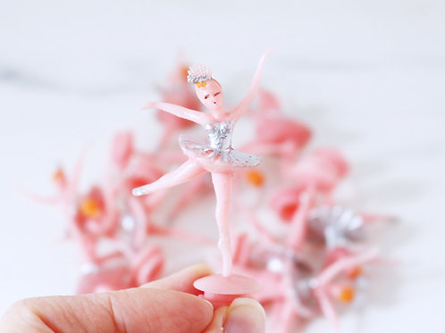 Vintage Plastic Ballerina Cake Toppers - Sold Individually