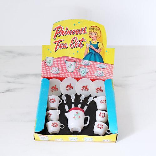 Vintage Kitsch Plastic Princess Tea Set