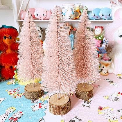 Pastel Pink Glitter Bristle Christmas Tree