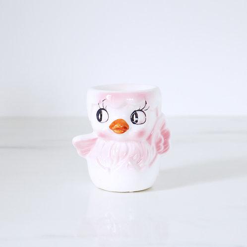 Vintage Pink Easter Chick Egg Cup