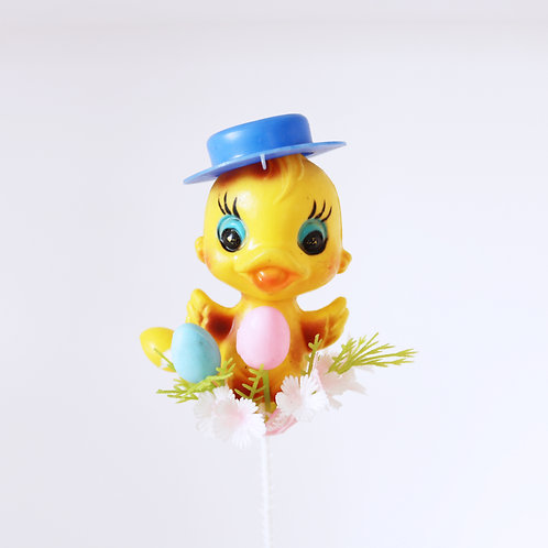 Vintage Colourful Easter Chick Pick Made In Hong Kong