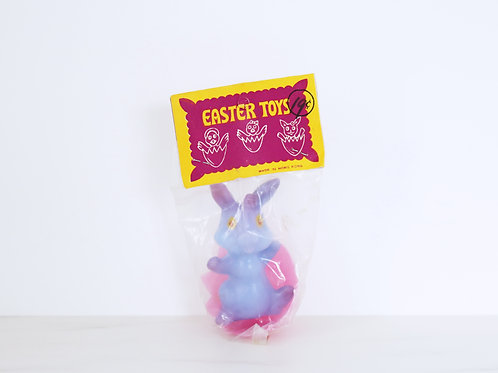 Vintage Plastic Easter Bunny Toy In Original Packaging