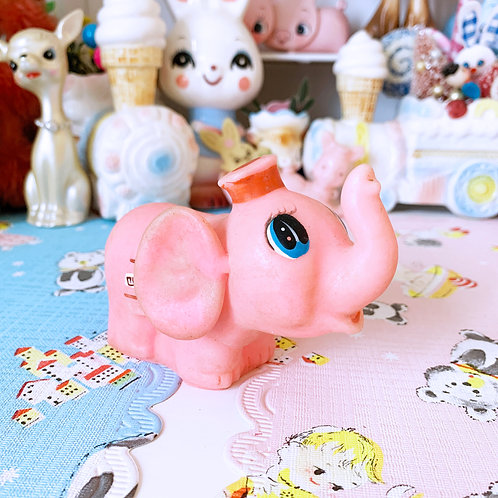 Vintage Pink Elephant Squeaky Toy