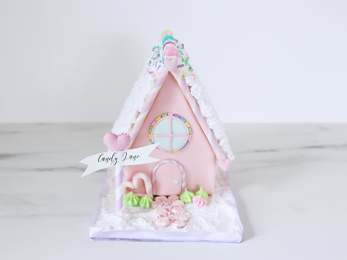 Pre order Stunning Pastel Rainbow Faux Gingerbread House Display Prop Decoration