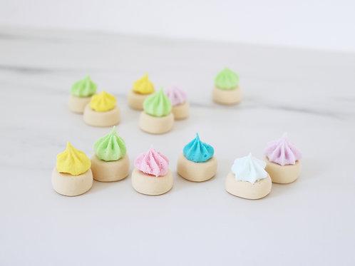 Set Of 8 Mini Faux Pastel Rainbow Iced Gem Cookie Display Prop