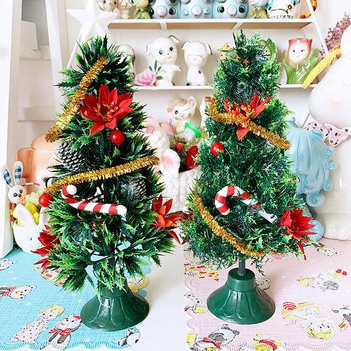 Vintage Kitschy Cute Plastic Christmas Trees