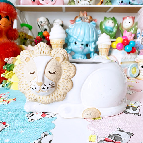 Leo The Lion Ceramic Planter