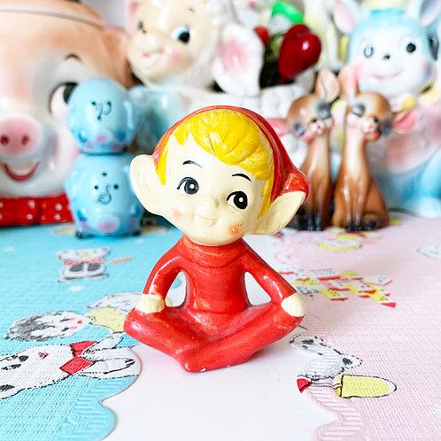 Red Vintage Pixie Elf ornament