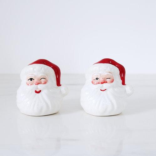 Vintage Kitsch Santa Salt & Pepper Shakers Set