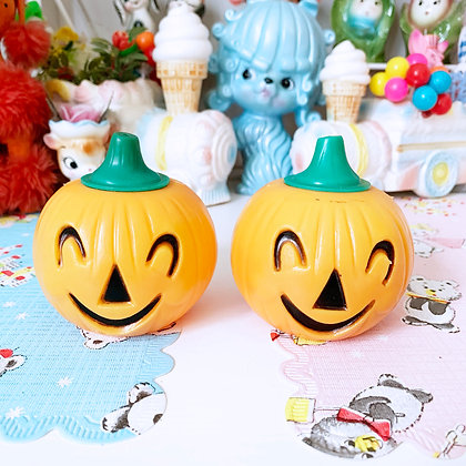 Little Vintage Plastic Halloween Surprise Pumpkins