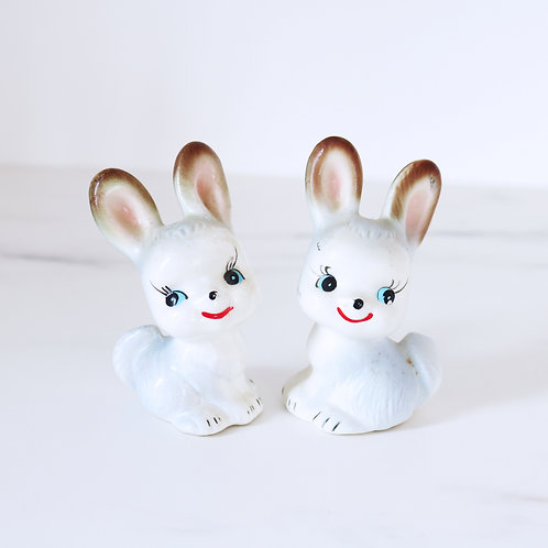 Vintage Bunny Salt & Pepper Shaker Set