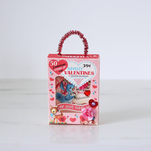 Vintage Style Handcrafted Valentines Diorama Hanging Decoration
