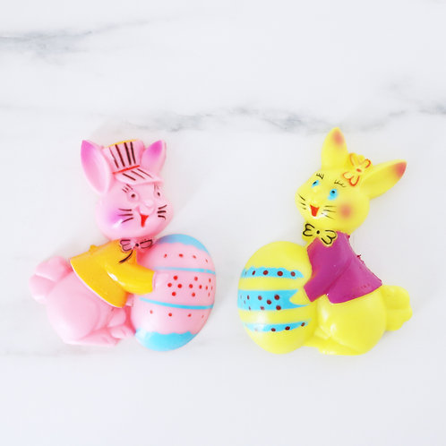 Vintage Large Easter Bunny Cake Toppers - Hard to Find In The Uk