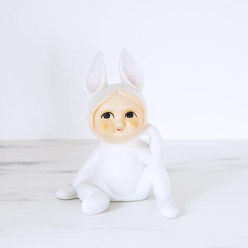 Vintage Style Snow Bunny Money Box - Lefton Style - Repaired