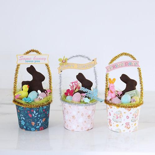 Vintage Style Handcrafted Easter Basket Decoration