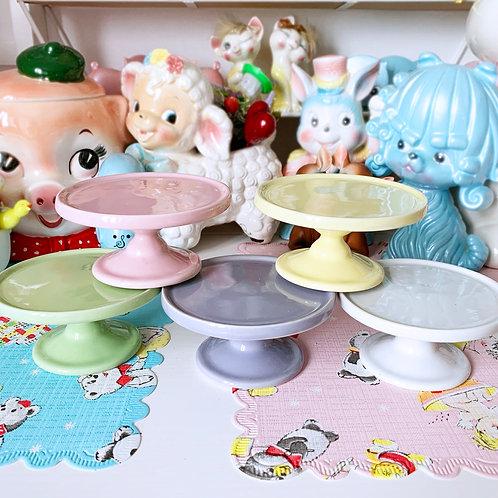 Mini Ceramic Pastel Cupcake Stands