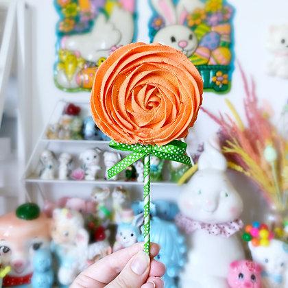 Faux Halloween Meringue Swirl Lollipop