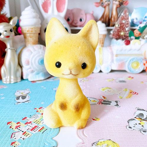 Vintage Kitsch Yellow Squirrel Bobble Head