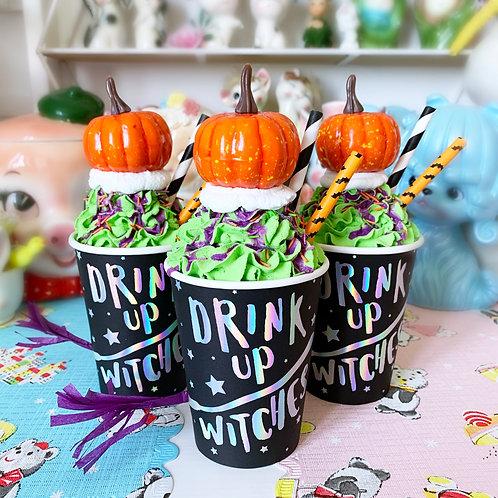 Faux Halloween Themed Milkshake Prop