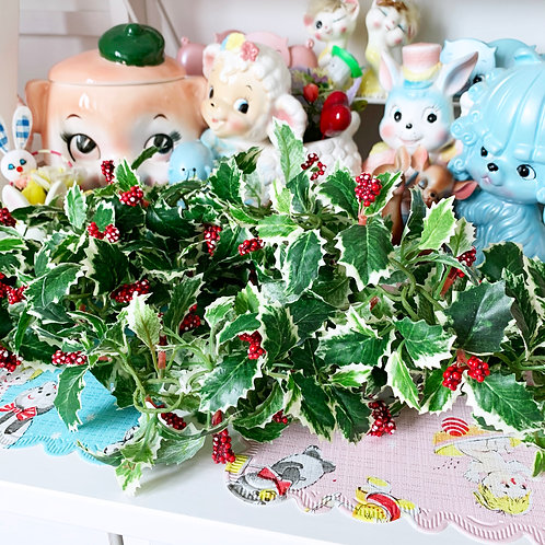 Vintage Plastic Christmas Berry Garland - 1.5 M
