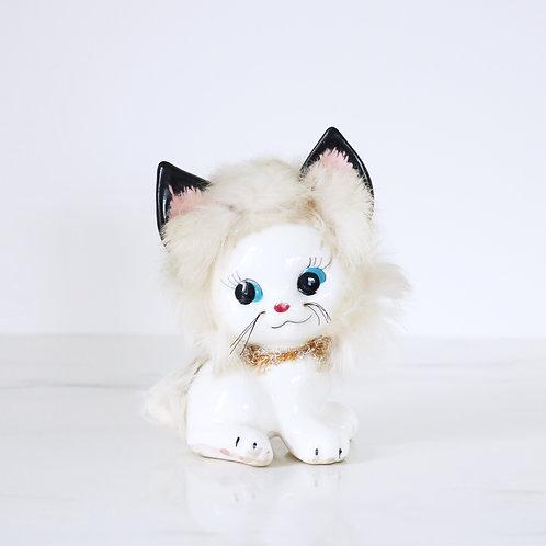 Vintage Fluffy Kitty Cat Ornament