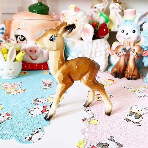 Vintage Kitsch Geo Plastic Deer Figurine