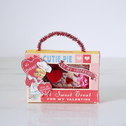 Vintage Style Handcrafted Sweet Treats Valentines Diorama Hanging Decorati