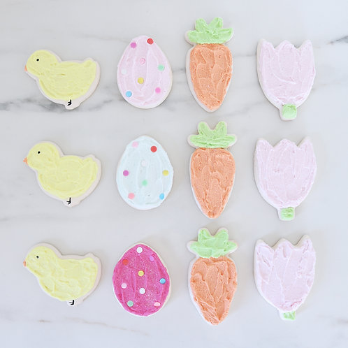 Faux Easter Spring Time Iced Cookies Set Of 4
